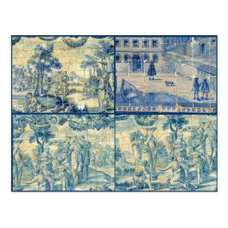Blue tiles post cards