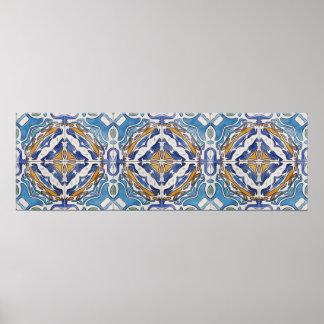 Blue Tiles Poster