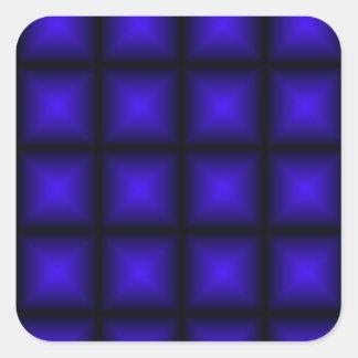 BLUE TILES SQUARE STICKER