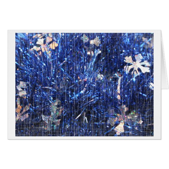 Blue Tinsel with Scratch Overlay Card
