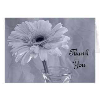 Blue Tinted Daisy Bridesmaid Thank You Card
