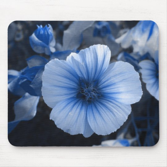 Blue Tinted Lavatera Mouse Mat