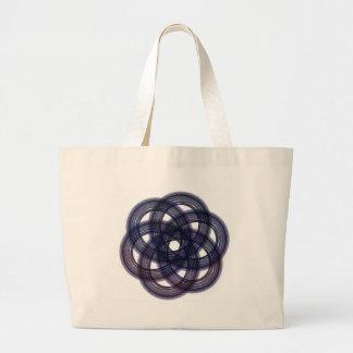 Blue Tinted Snowflake Large Tote Bag
