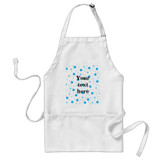 Blue tiny and big polka dots standard apron