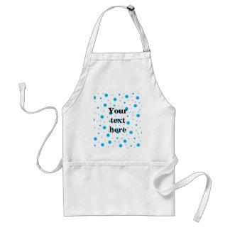 Blue tiny and big polka dots standard apron