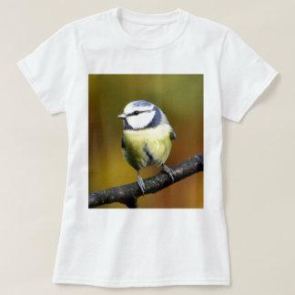 Blue tit sitting on a branch tshirt