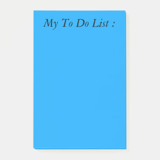 Blue To Do List Post-it Post-it Notes