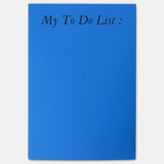 Blue To Do List Post-it Post-it® Notes