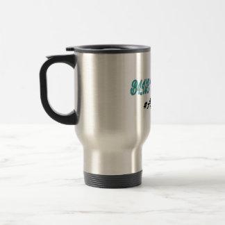 Blue to green travel mug