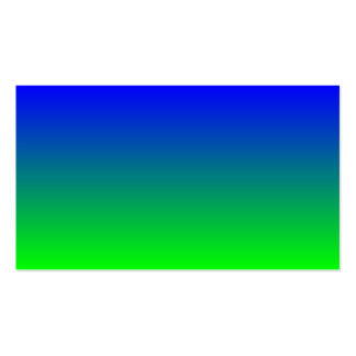 Blue to Lime Green Gradient Pack Of Standard Business Cards