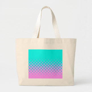 Blue to pink large tote bag