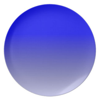 Blue to {your choice} 2 tone horizontal gradient dinner plates