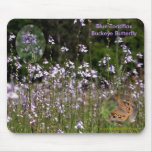 Blue Toadflax, Buckeye Butterfly, Mouse Pad