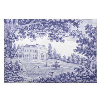 Blue Toile Placemat French Country Home Decor