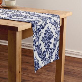 Blue Toile Short Table Runner