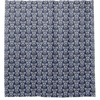 Blue Tones Floral Shower Curtain
