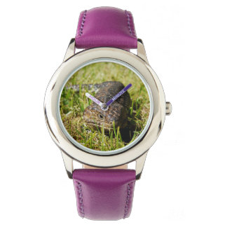 Blue_Tongue_Lizard_Kids_Purple_Leather_Watch Wrist Watch