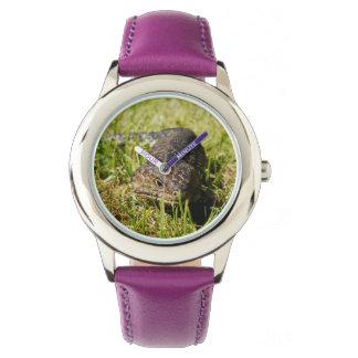 Blue_Tongue_Lizard_Kids_Purple_Leather_Watch Wrist Watch
