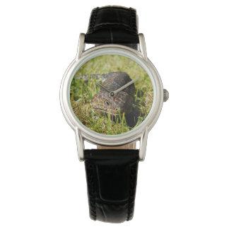 Blue_Tongue_Lizard_Ladies_Black_Leather_Watch Wristwatches