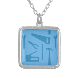 blue tools necklace