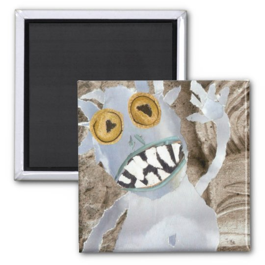 Blue-toothed! Square Magnet
