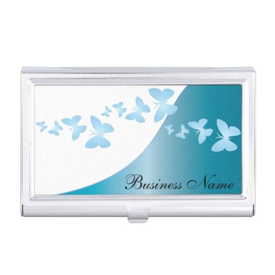 Blue Topaz Elegant Personalise Card Holder