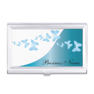 Blue Topaz Elegant Personalize Card Holder