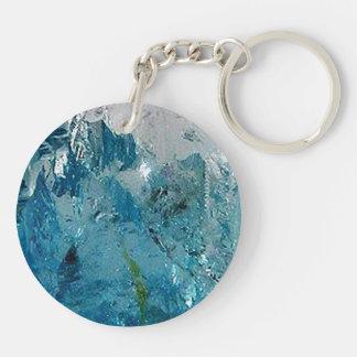 Blue Topaz Key Ring