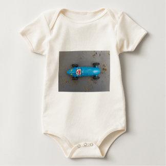 Blue toy car baby bodysuit