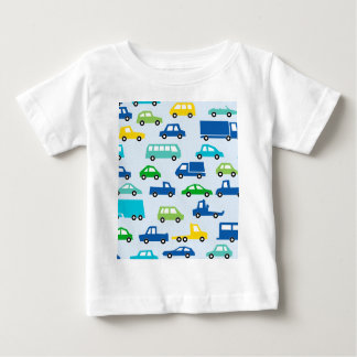 blue toy car pattern - automobile illustration baby T-Shirt