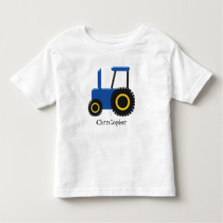 Blue Tractor Just Add Name Toddler T-Shirt