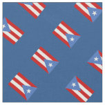 Blue: Traditional: Flag of Puerto Rico Fabric
