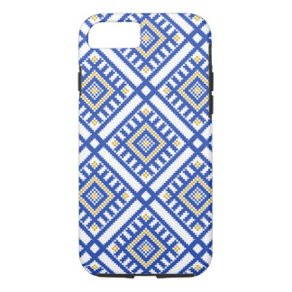 Blue Traditional Geometry Pattern iPhone 8/7 Case