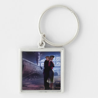 Blue Train Key Ring