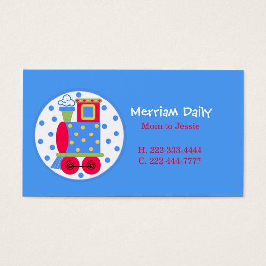 Blue Train Mummy Play Date Card