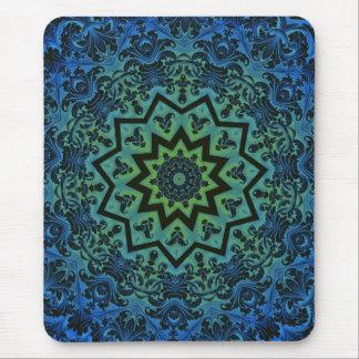 Blue Tranquility Mandala Mouse Mat