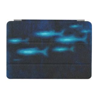 Blue Translucent Fish Silhouettes iPad Mini Cover