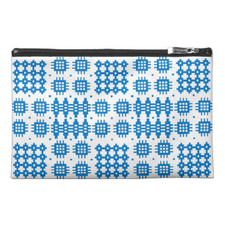 Blue Travel Accessories Bag Welsh Tapestry Pattern