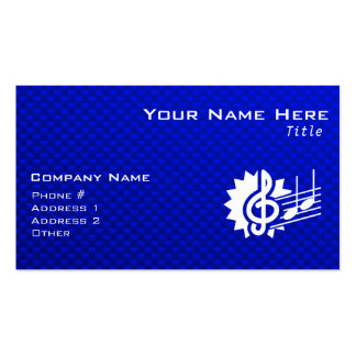 Blue Treble Clef Music Notes Business Card