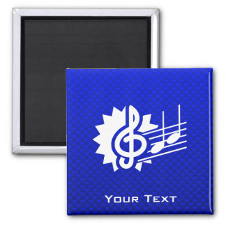 Blue Treble Clef Music Notes Fridge Magnets