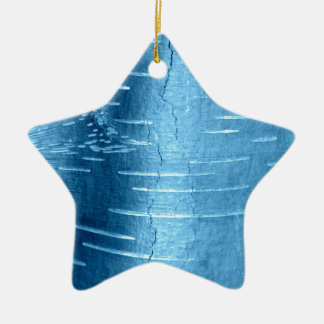 Blue Tree Bark Christmas Ornament