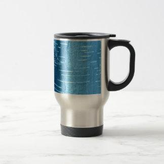 Blue Tree Bark Travel Mug