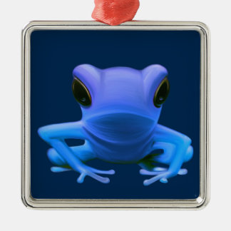 Blue Tree Frog Christmas Ornament