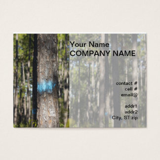 blue tree marking paint business card