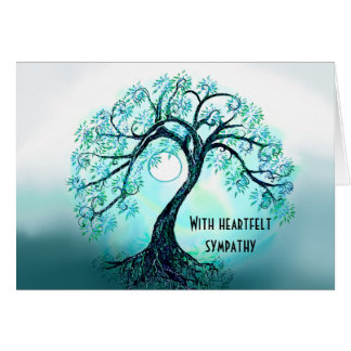 Blue Tree of Life Sympathy card