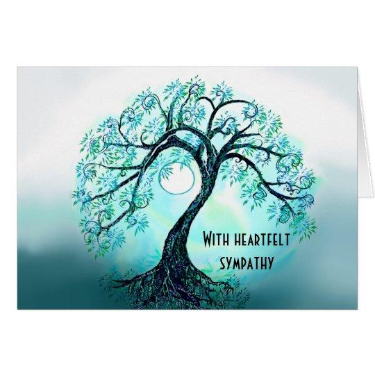 Blue Tree of Life Sympathy card