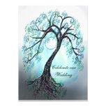 Blue Tree of Life Wedding Invitation