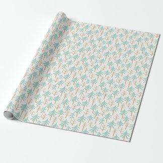 Blue Tree Pattern Paper