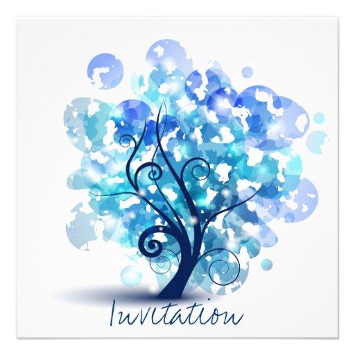 Blue Tree Personalised Invitation