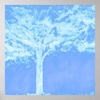 Blue Tree poster original designs